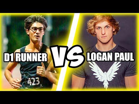 LOGAN PAUL VERSUS D1 RUNNER!! $100,000 CHALLENGER GAMES RACE!
