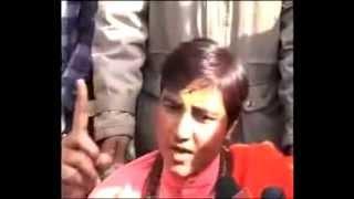 Sadhvi Pragya Singh Thakur slapping Terrorist Congress   Italian Sonia Gandhi
