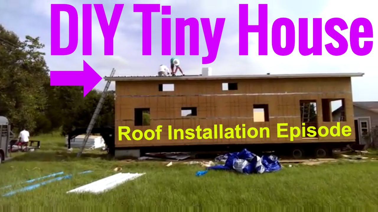 How to build your own tiny house on wheels installing for How to build your own tiny house on wheels