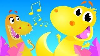 The Dinosaur Dance | Kids Songs | by Little Angel