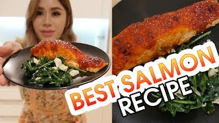 MY FAVORITE SALMON RECIPE | Spicey Korean Salmon