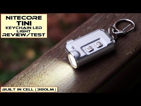 Nitecore TINI Mini LED Keychain Light  Review   Test - YouTube 4bcd3a74820d
