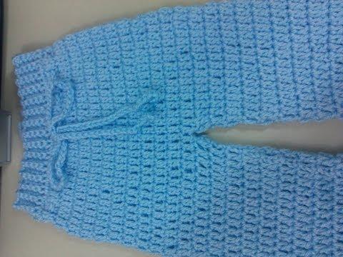Pantalones Tejidos A Crochet Para Bebe Imagui