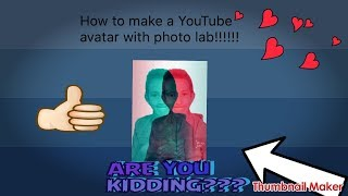 How to make a youtube avitar, hope this helps.:)