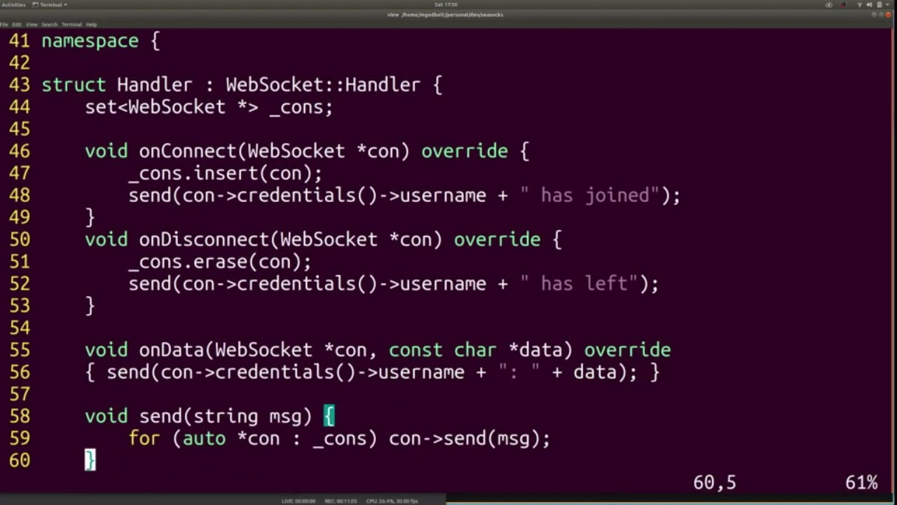 Seasocks - a C++ embeddable WebSockets server