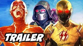 The Flash Season 4 Arrow Supergirl Crossover Official Trailer - Crisis on Earth X Breakdown