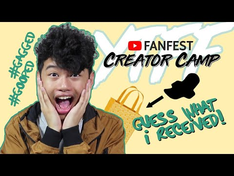 YOUTUBE FANFEST MANILA CREATOR CAMP Vlog! + Swag Haul