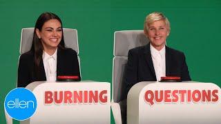 Mila Kunis Answers Ellen's 'Burning Questions'