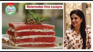 Watermelon Feta Lasagne #GetSummerGlow