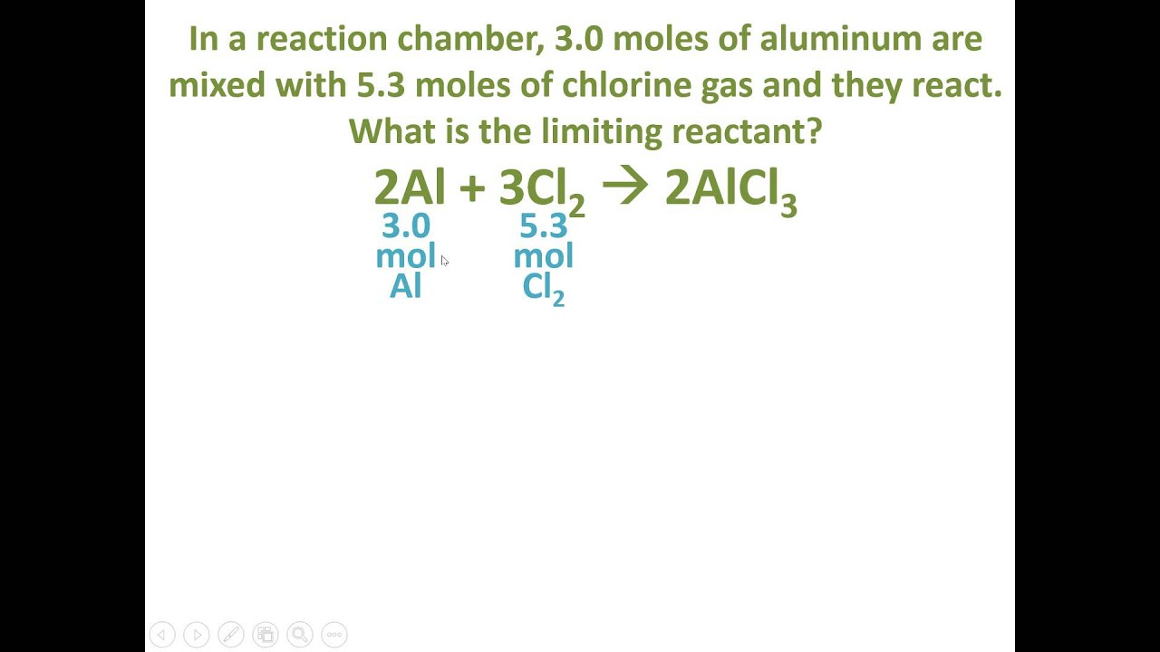 Stoichiometry Example Identifying The Limiting Reactant