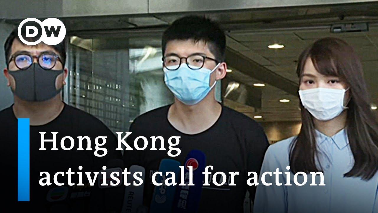 Hong Kong activists seek foreign support | DW News