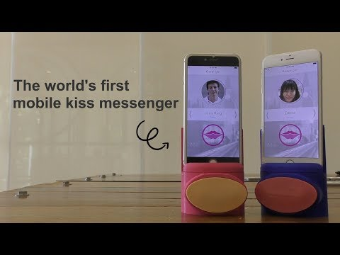Kissenger, long distance kiss device is official launch for sale!