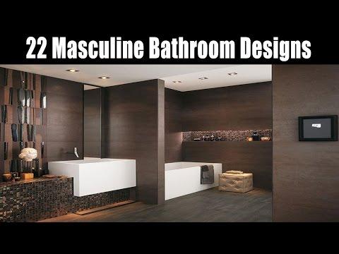 22 Masculine Bathroom Designs