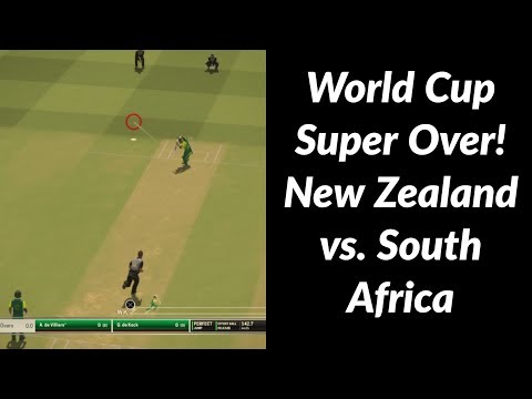 World Cup Super Over | Game 4 - New Zealand vs. South Africa | Ashes Cricket 2017