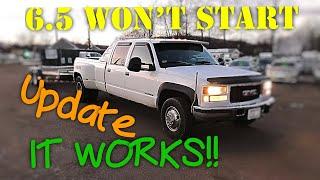 6.5 Turbo Diesel Wont Start Update !! It Works!!