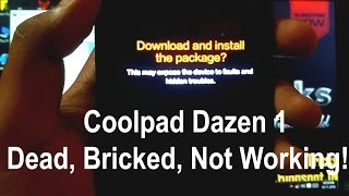 COOLPAD DAZEN 1 - Dead, Bricked, No IMEI | Install stock firmware with YGDP Tool