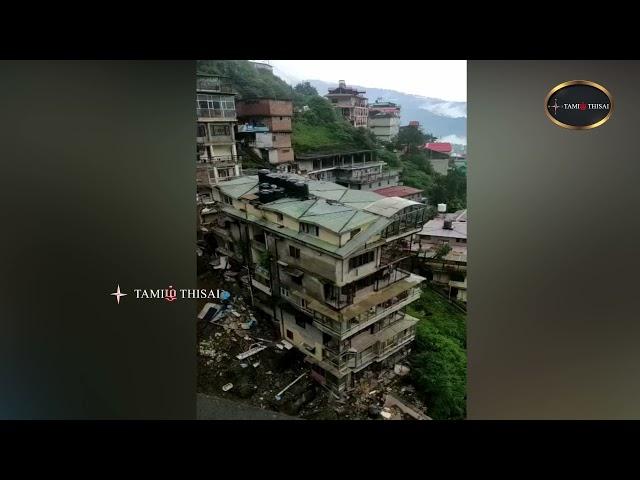 பல மாடி கட்டிடம் இடிந்து விழுந்த காட்சி   TamilThisai   Shimla   Landslide  