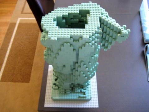 how to make a lego statue