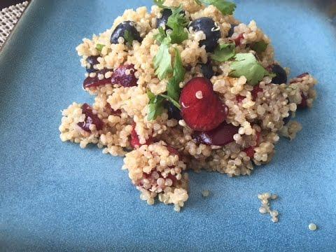 Summer Salad Recipe - Cherry, Blueberry, Quinoa Salad Recipe (Summer Salad Recipes)