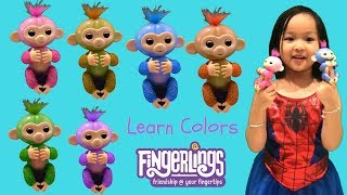 💛 Learn Colors With FINGERLINGS Monkeys 💜 Meet the Glitter Girls! 💎