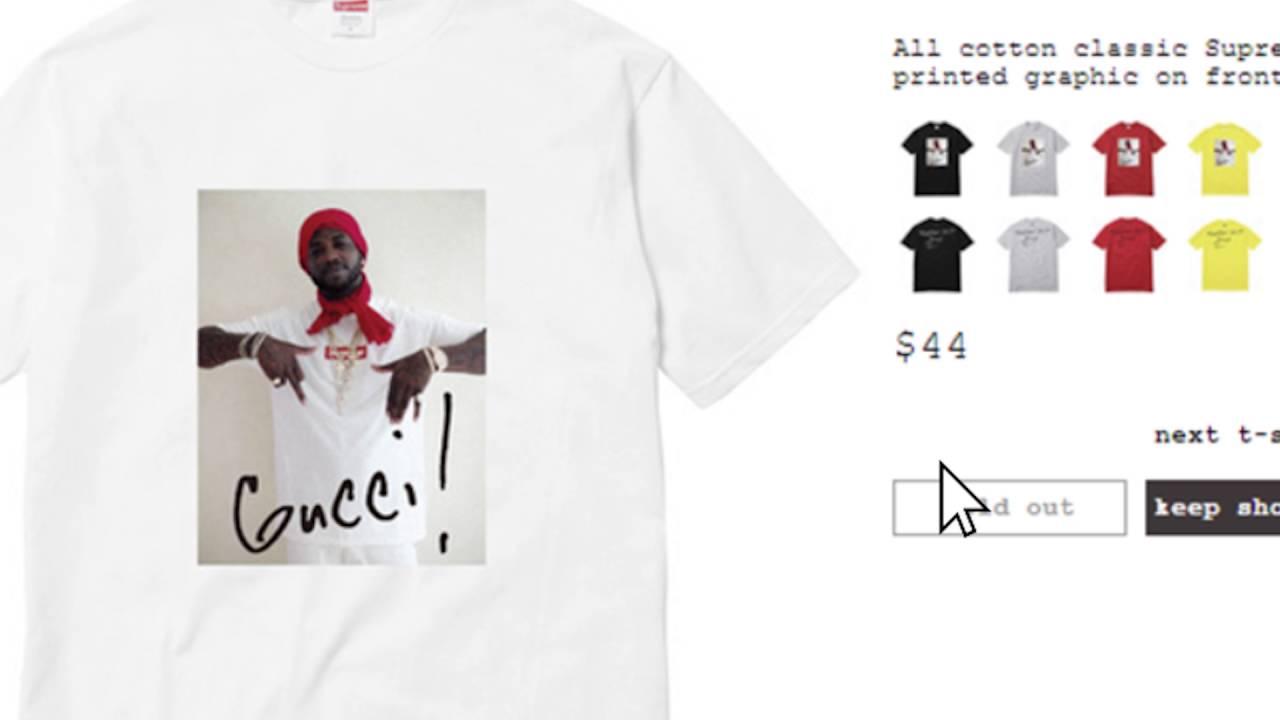 supreme x gucci t shirt