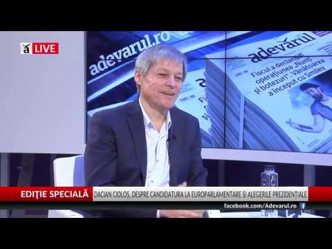 Dacian Cioloş, despre candidatura la europarlamentare şi despre alegerile prezidenţiale