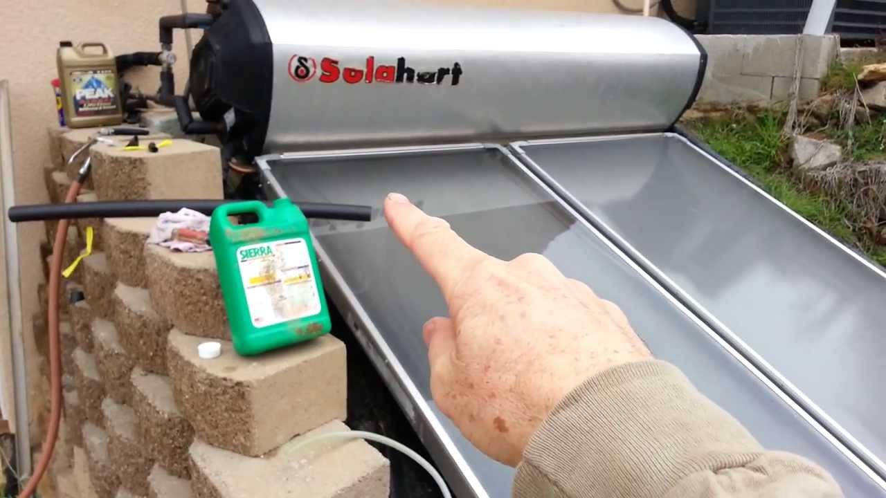 Glass Panel Repair For Solahart Solar Hot Water Youtube