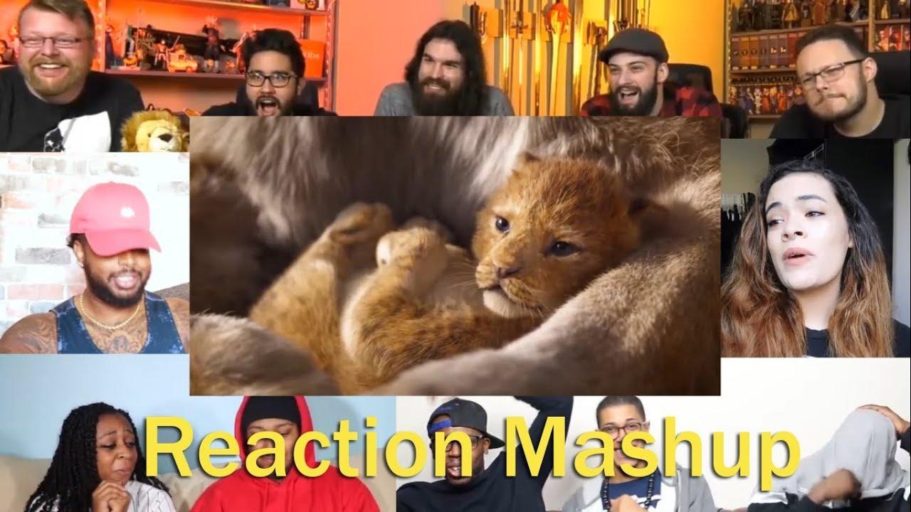 the lion king official teaser trailer reaction mashup