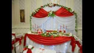 Оформление свадьбы в красном цвете.AVI