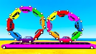 LEARN COLORS w Truck and Learn Numbers in Spiderman Cars Cartoon for Kids Learning Video