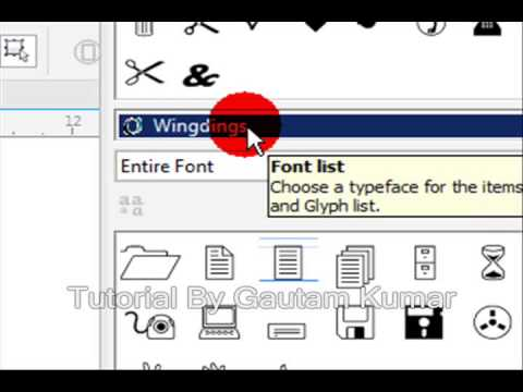 How To Add  Symbols To Text in CorelDraw X7
