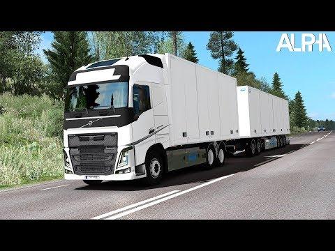 ETS2 1.30 - Next Gen Graphics - Volvo FH Tandem Scandinavian Combo - Sweden to Finland - ReShade