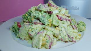 Девчонки, салат на каждый день роскошный. Быстрый, вкусный салат