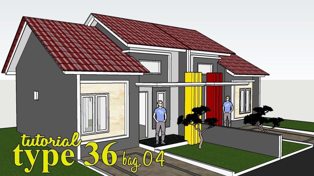 DESAIN rumah type 36 minimalis banget - YouTube