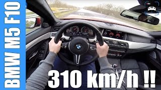 POV BMW M5 F10 310 km/h TOP SPEED AUTOBAHN Acceleration | 575 HP COMPETITION PACK