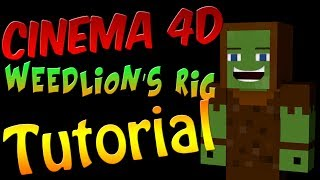 Cinema 4D: How to Change your Skin with Weedlion's Minecraft Rig