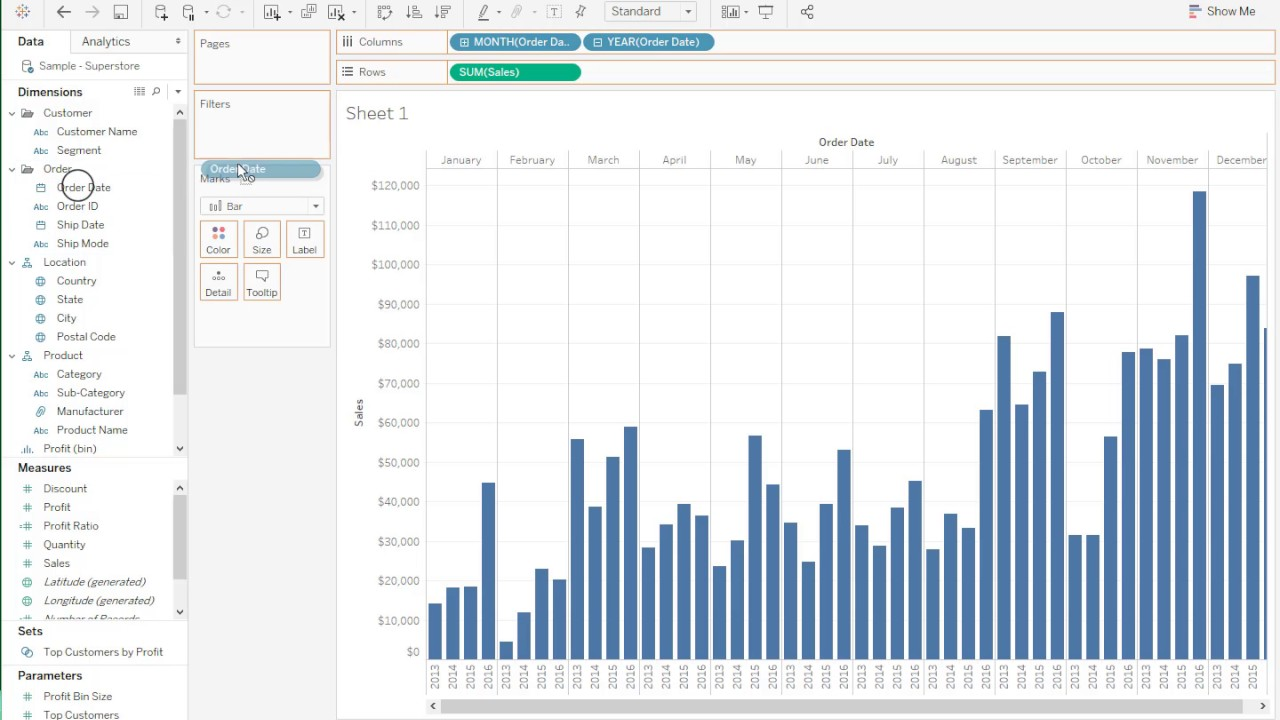 Creation of a Grouped Bar Chart   Tableau Software