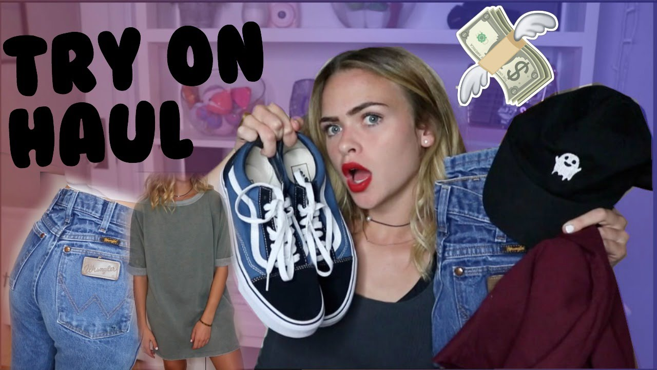 BACK TO SCHOOL TRY-ON CLOTHING HAUL 2016//UO, Brandy Melville, Sephora +  more | Summer Mckeen - YouTube