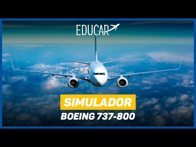 ESCOLA DE aviação SIMULADOR boeing 737-800 ✈