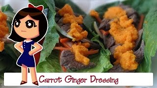Thick & Tangy Carrot Ginger Dressing