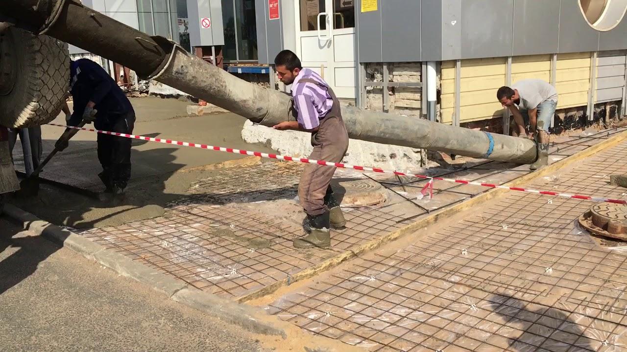 Подача бетона лотками бетон букмекерская