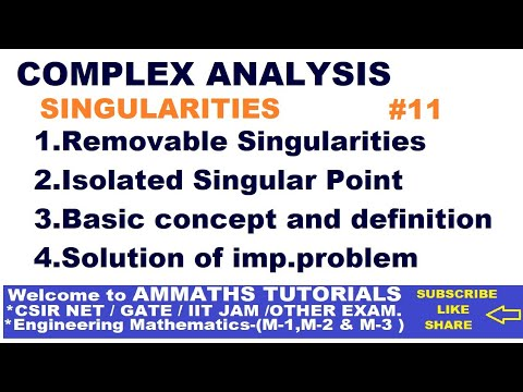 REMOVABLE SINGULARITIES IN HINDI, ISOLATED SINGULAR POINT , SINGULAR POINT