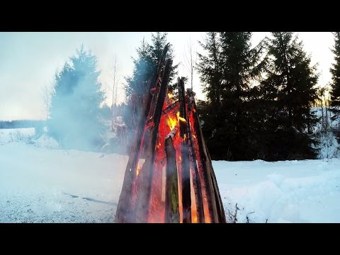 Powerful Shaman Drumming Native American 4K FIRE (2 HOURS)