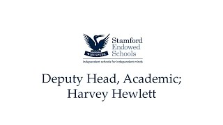 Deputy Head, Academic; Harvey Hewlett