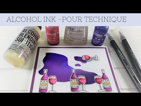 Pour Technique with Alcohol Inks
