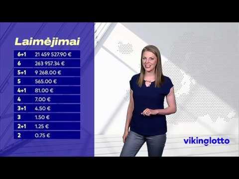 VikingLotto 1279 tiražas (2017 09 13)
