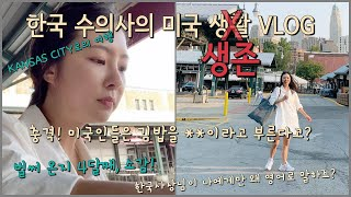 (Eng)미국 수의대 유학생 VLOG | 김밥 만들어서…
