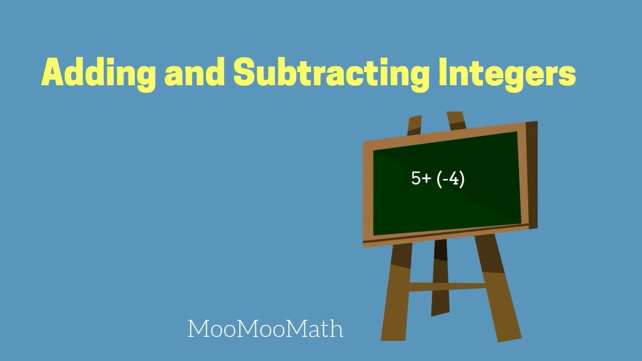 Adding and Subtracting Integers-6th Grade Math - YouTube