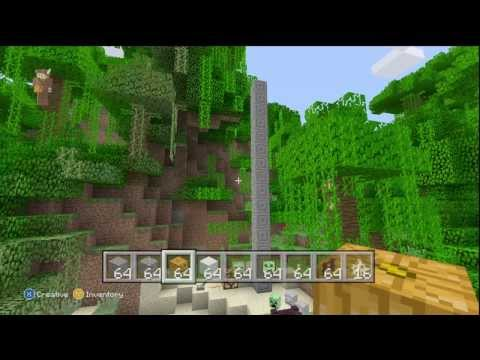 Minecraft Xbox 360 UPDATE!- JUNGLE BIOME- Texture Packs - Ocelots + Much More