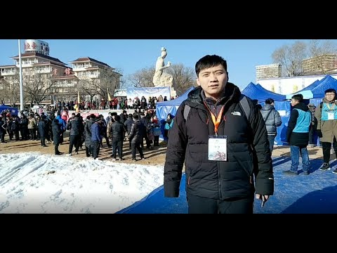 LIVE Winter swimming competition in NE China
